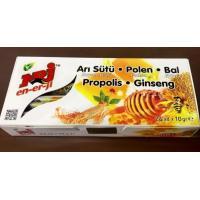 Akışık NRJ En-Er-ji Tüp Polen Propolis Arısütü Ginseng Bal 10 Gr 24 adet